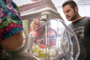 The NICU move required about 100 staff members from several departments.