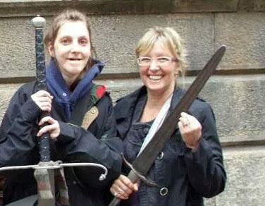 Claudia and Frances Anger in England