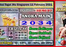 Prediksi Togel Jitu Singapore Kamis 11 February 2021