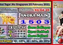 Prediksi Togel Jitu Singapore Kamis 25 February 2021