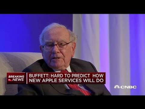 Buffett: Hard to predict how new Apple services will do
