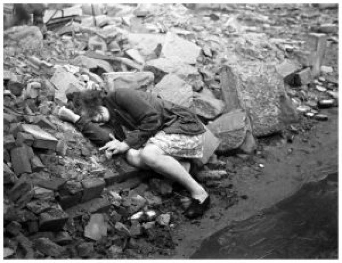 The allied destruction of Dessau, Germany, 1945