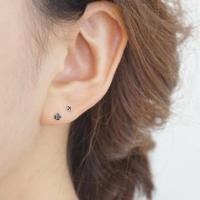 Tiny Black Cz Stud Earrings,2mm,sterling Silver,black Stud ...