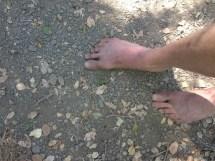 Walking Barefoot On Sharp Rocks