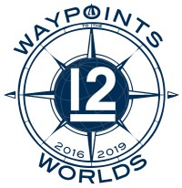 Waypoints to the Worlds 2016-2019 logo