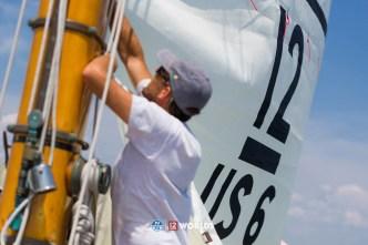 4th July 2019. Training onboard Onawa, (US-6) ahead of the 2019 12mR World Championship, Newport RI USA.