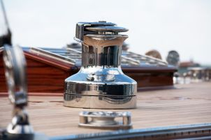 Siesta (DEN-12 / Anker 434) deck hardware chosen to match the classic design aesthetic ~ Robbe & Berking Classics photo