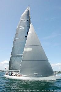 Valiant (US-24) sailing at 2017 Classic Yacht Regatta, Newport, RI-- photo by: SallyAnne Santos