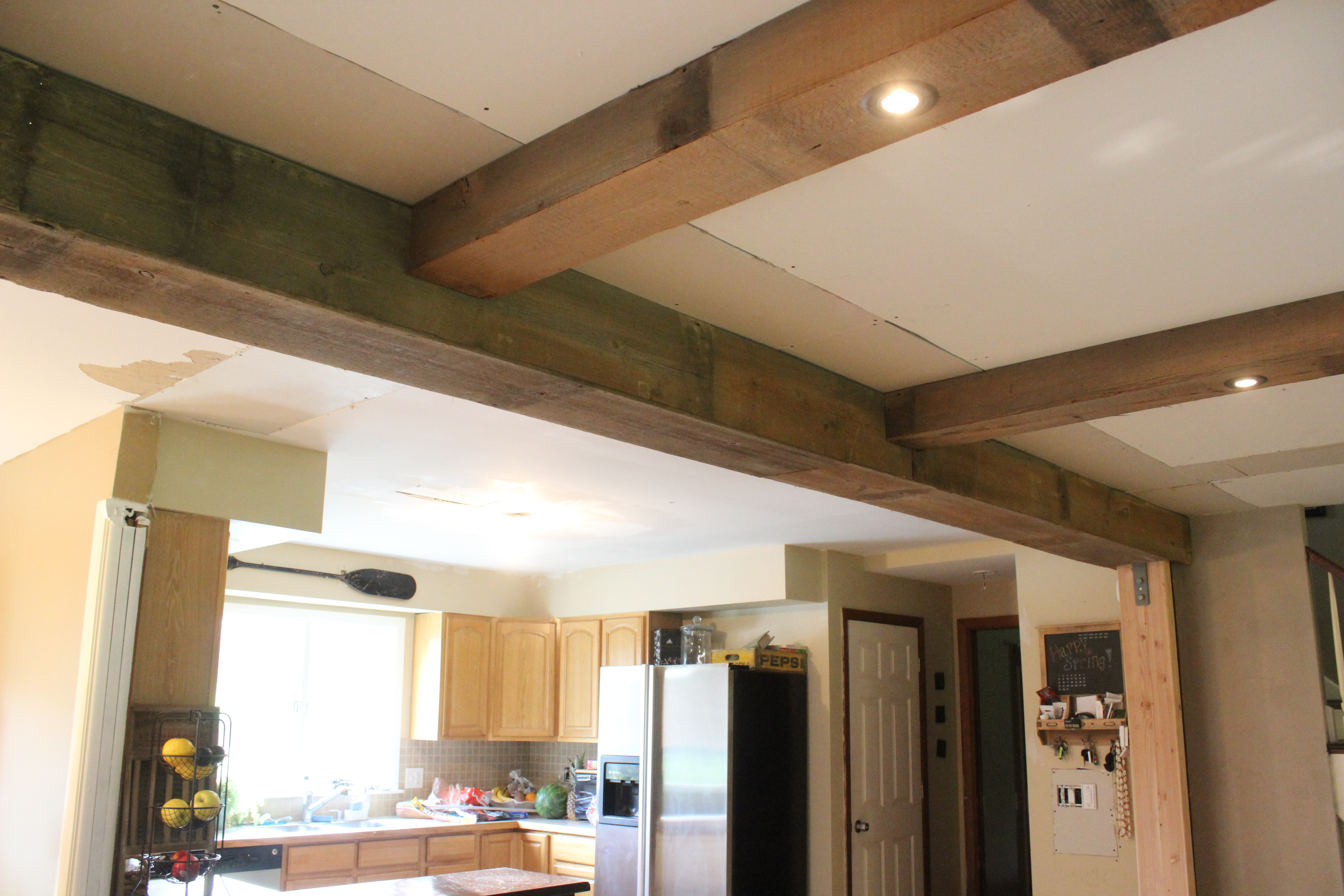 DIY Reclaimed Barn Wood Beams