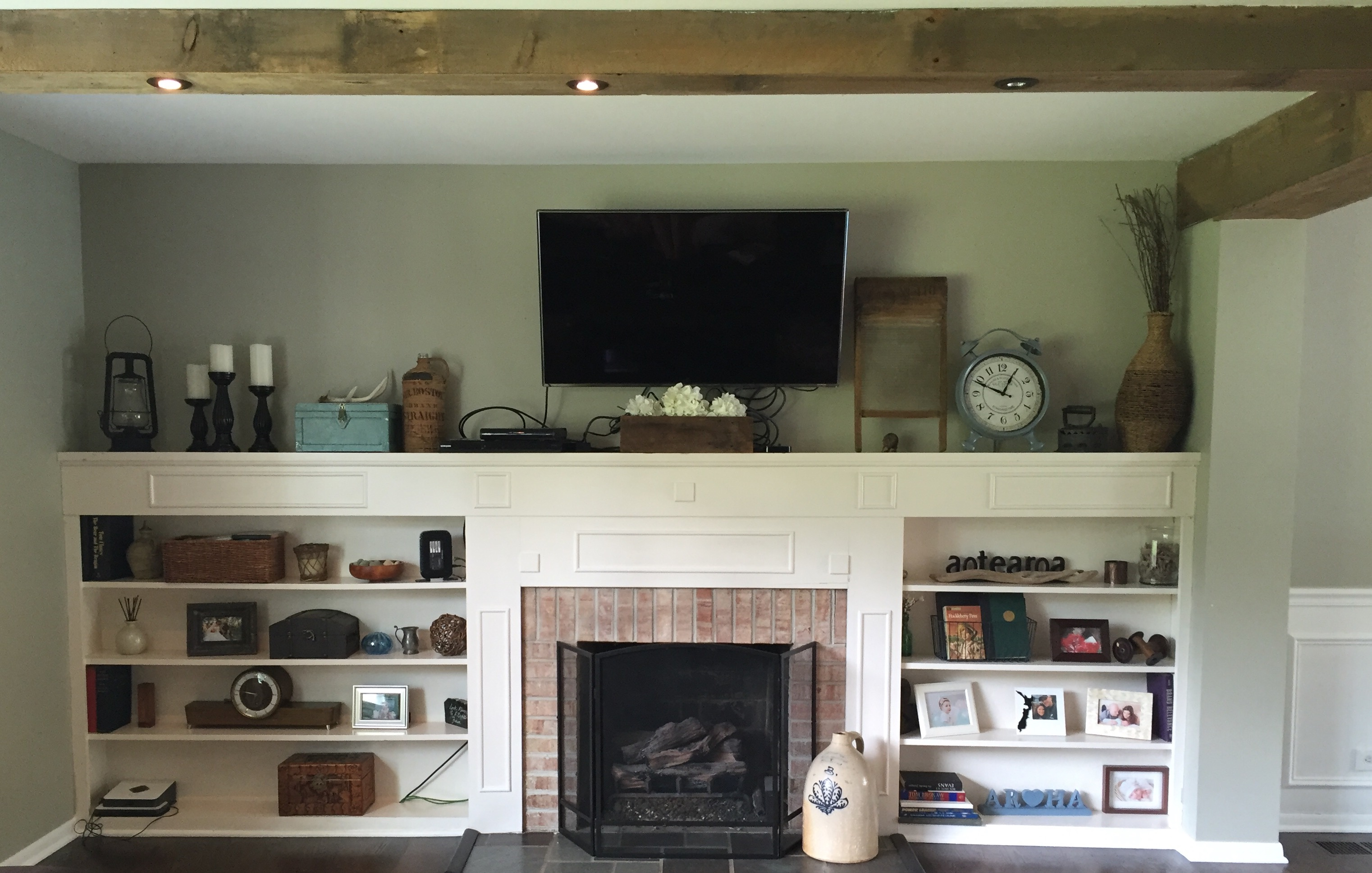 Living Room Built Ins Plans  Progress  12 Oaks