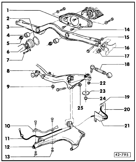 quattroworld.com Forums: Rear Subframe Parts Diagram and