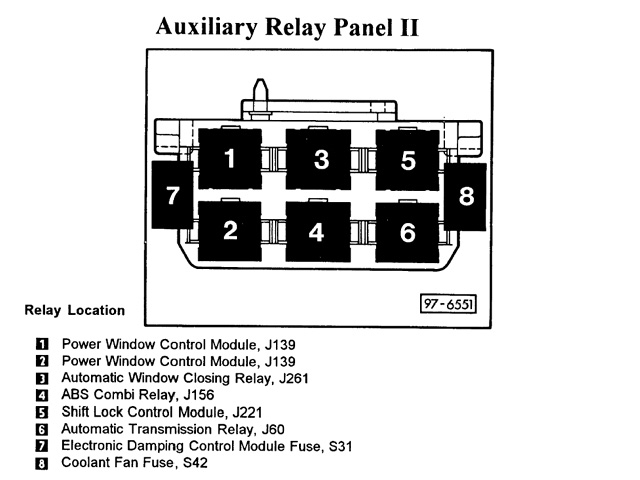 Audi A6 Fuel Pump Relay Location