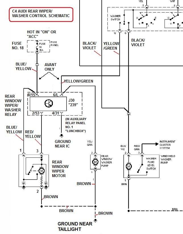 audi wiper motor wiring diagram  wiring diagram series