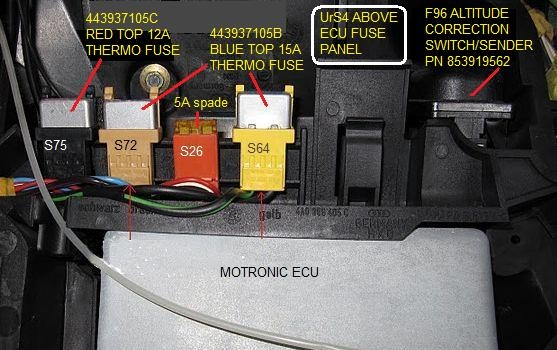 2006 Lexus Es330 Fuse Diagram Callout For The Above Ecu Fuse Panel Fuses Urs4 And Urs6