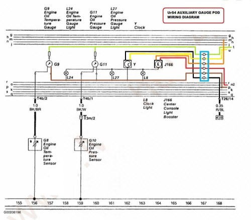 small resolution of  wiring diagram from the urs c4 chassis that shows the relationship between the g8 oil temp sender and the g9 oil temp gauge and the g10 oil pressure