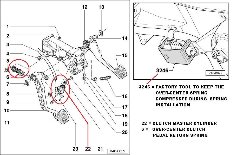 thread b5 s4 clutch pedal position switch