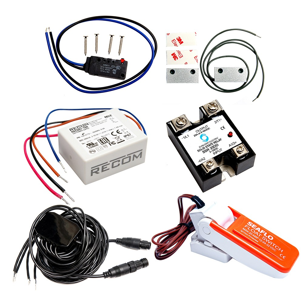medium resolution of mazu m25 sentry kit includes sentry adapter cable float switch magnetic contacts backup battery sensors actuator