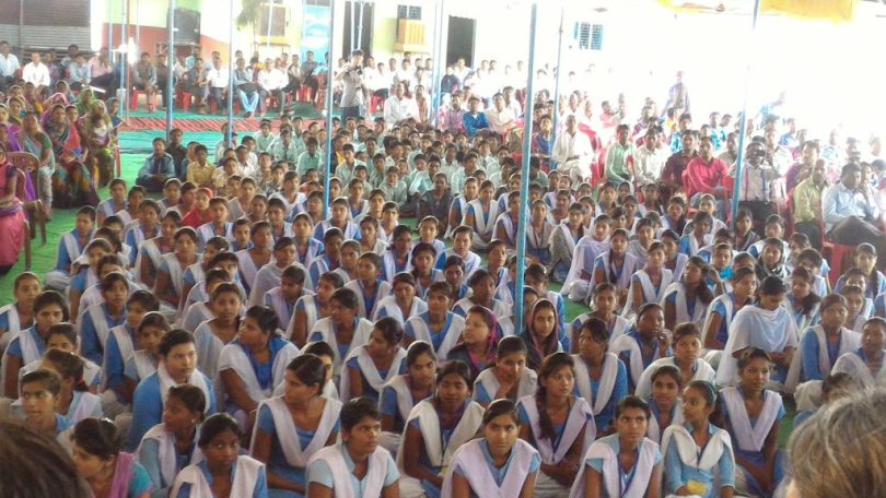 印度中央邦,GVBS的年度學習成果聚會(圖/諸重之貌,取自即將發行的BGVS紀錄片)