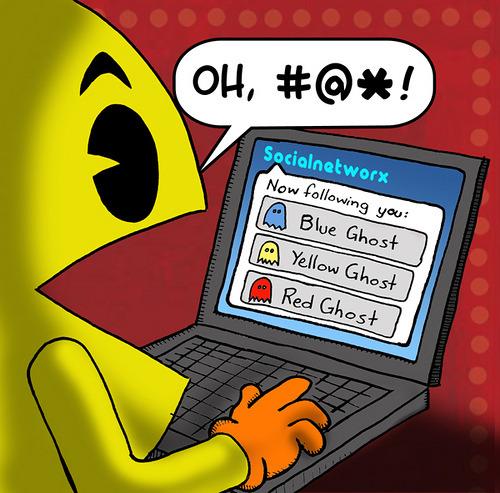 Pac-Man on social media