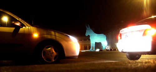 El burro en Atocha (via Flionux)