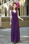 Plus Size Purple Maxi Evening Dresses