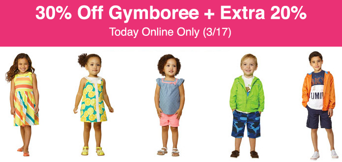 30% Off Gymboree + Extra 20% Off Code (Today Only)