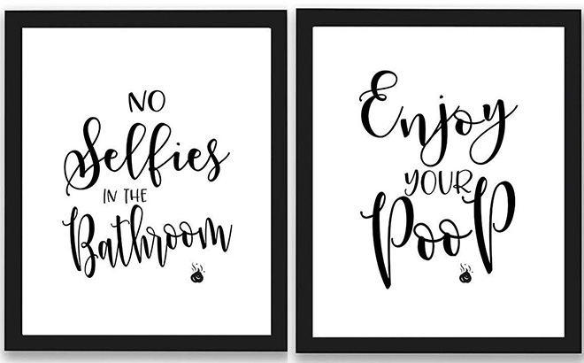 Bathroom Quotes And Sayings Art Prints Only 9 Regularly 15 Free Shipping