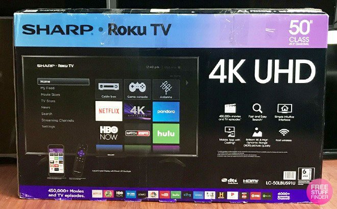 Sharp 50-Inch Smart Roku TV JUST $249.99 + FREE Shipping (Reg $330) – Today Only!