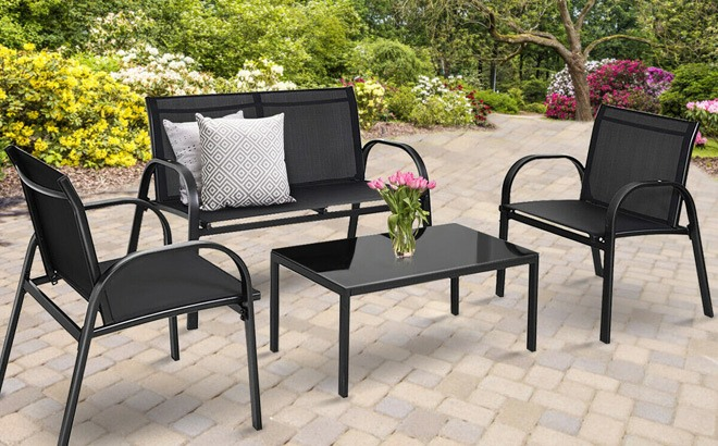 patio furniture 4 piece set for only