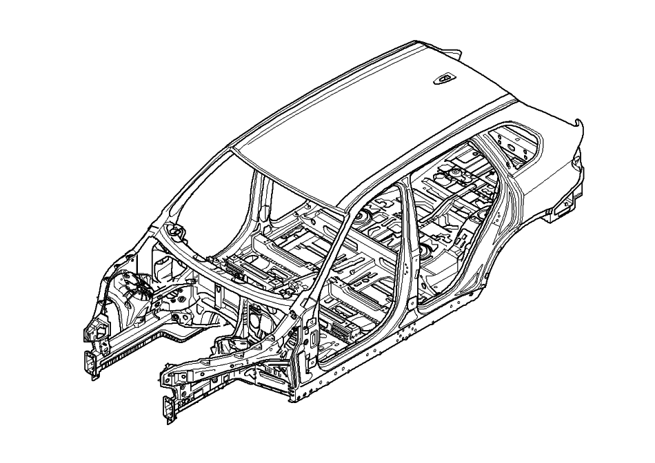2011 BMW X5 Body Structure and Airbags