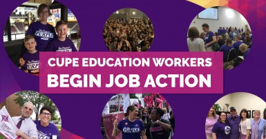 CUPE Education workers begin job action