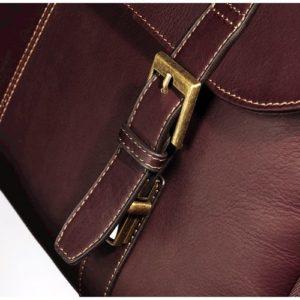 Samsonite Leather Messenger buckle