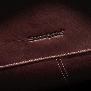 Samsonite Leather Messenger imprint