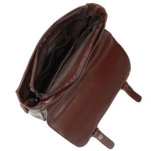 Zebella vintage leather briefcase open