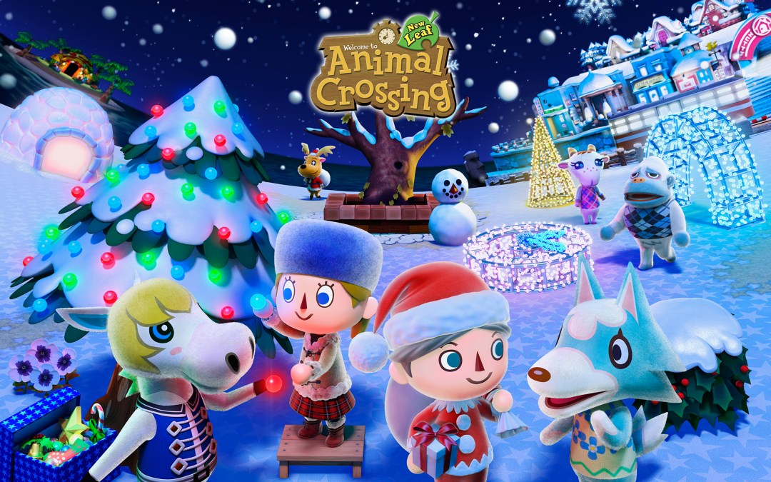 Animal Crossing winter wallpaper
