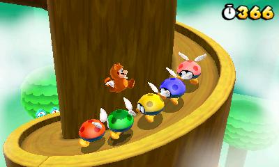 Tanooki-Mario floating over some enemies. (Image from mario.nintendo.com free image)