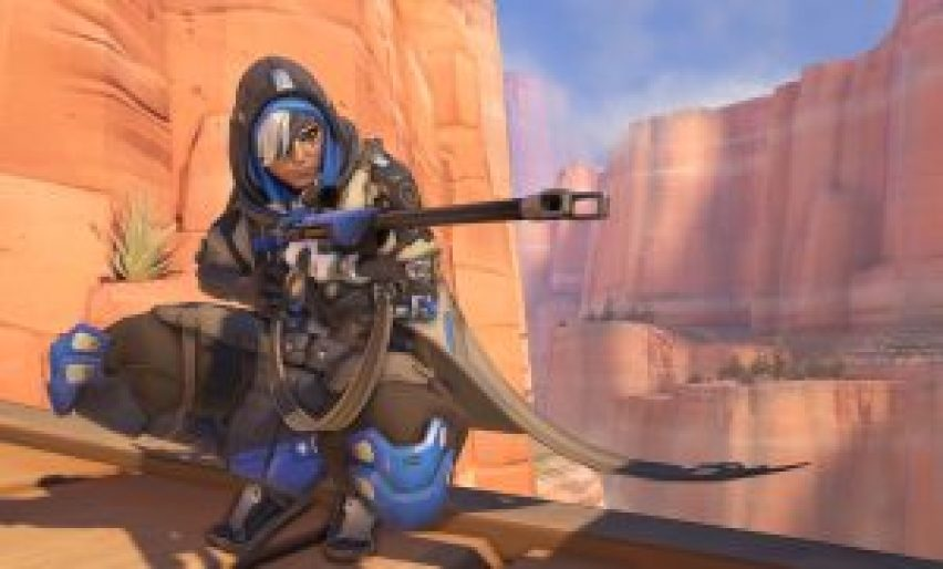 Screenshot of Ana from the official Overwatch website