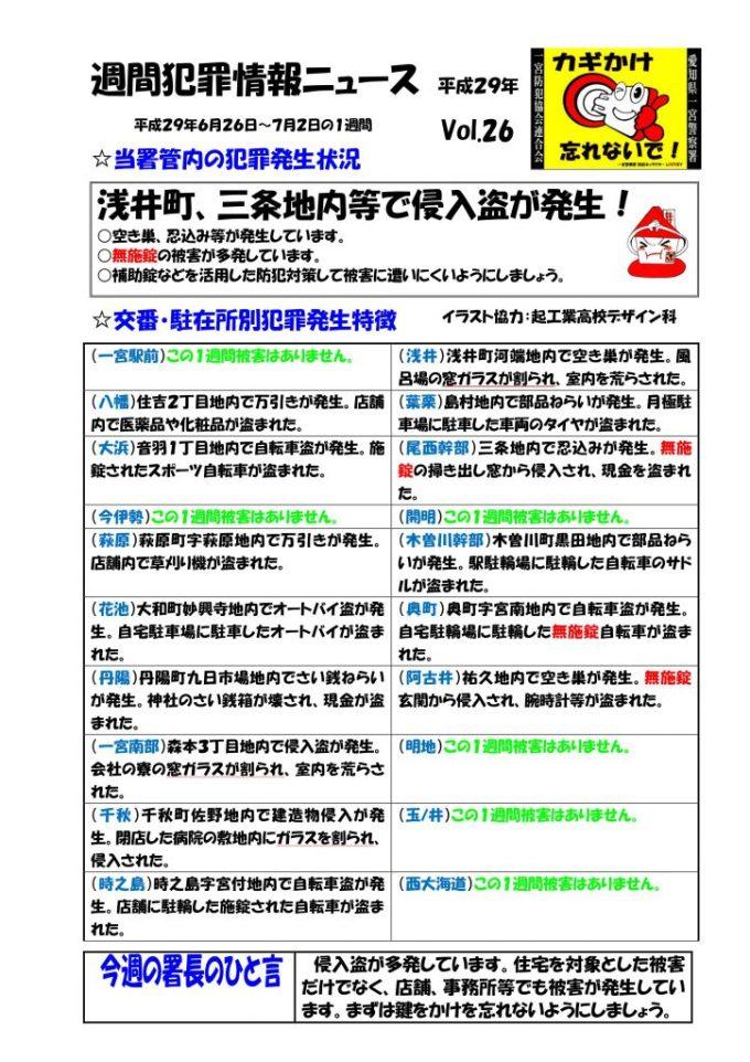 週間犯罪情報ニュース Vol.26