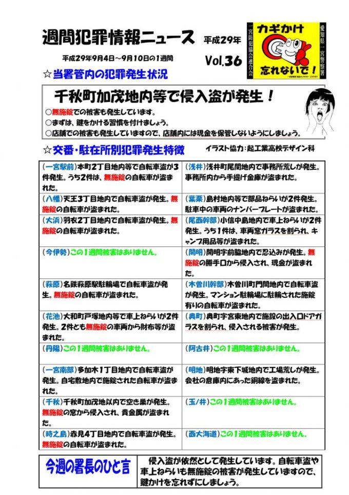 週間犯罪情報ニュース36