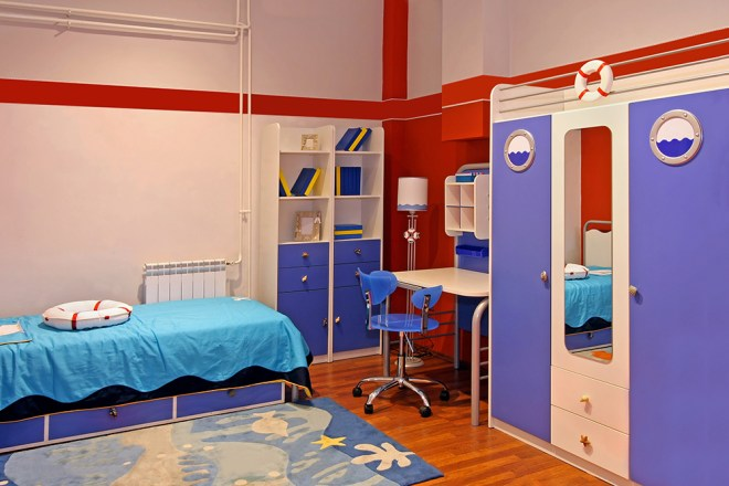20580145 - child room interior with marine theme