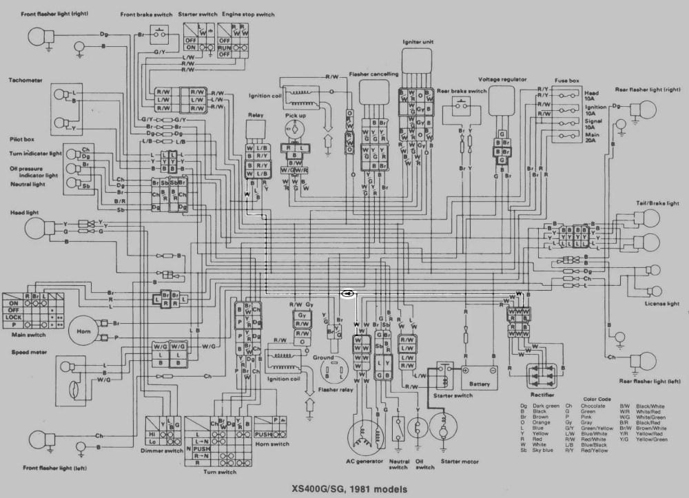 medium resolution of 82 xj650 wiring diagram 82 get free image about wiring yamaha xs650 wiring diagram 1982