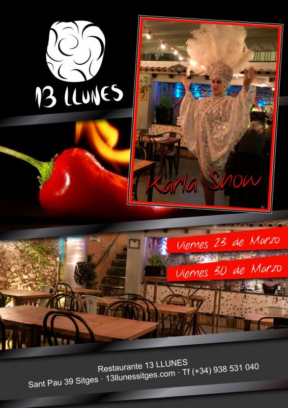 Karla Show en el 13 Llunes restaurante