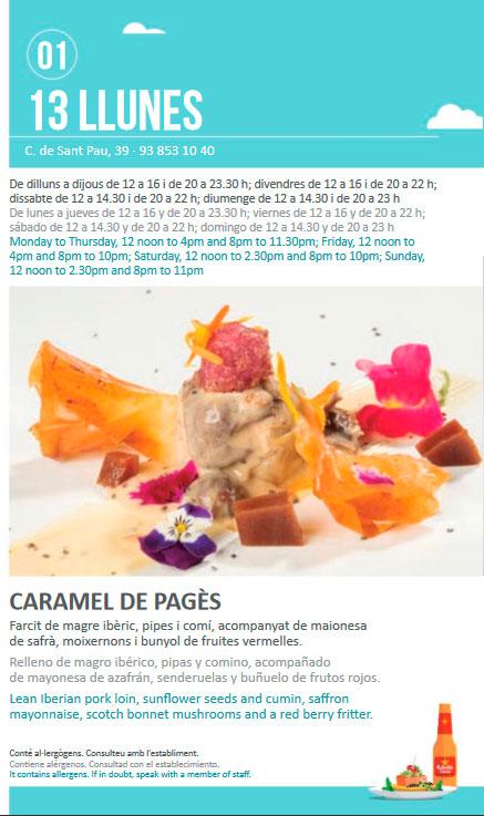 Caramel de Pagès - Sitges Tapa a Tapa 2018