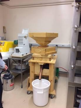 Grain mill at the WSU Bread Lab