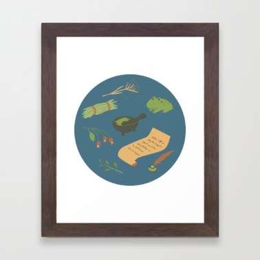 herbology s6 framed art print