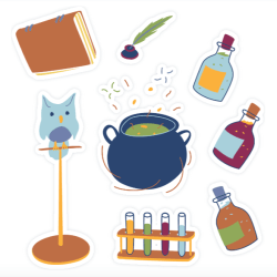 potions sticker set