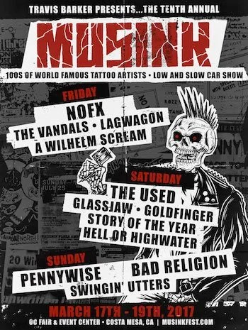Musink 2017 Flyer With Band Lineup, Dates And Venue Details