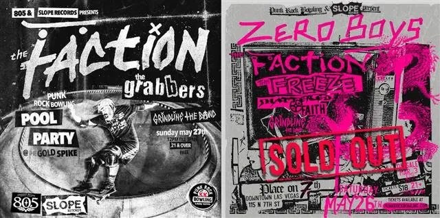 Slope Records Presents The Father Figures, The Freeze and Grindline at Punk Rock Bowling 2018