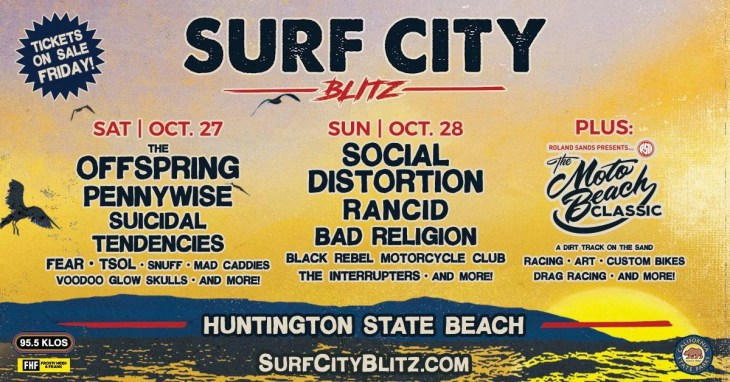 Surf City Blitz Reveals Band Performance & Moto Beach Classic Motorcycle Event Times