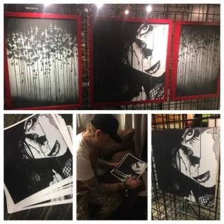 [COMA GIRL by Matt Skiba, featured in Crime On Canvas ART Show Las Vegas 2017]